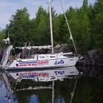 Яхта Дельта на Волге