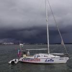 Яхта Дельта, погода портится