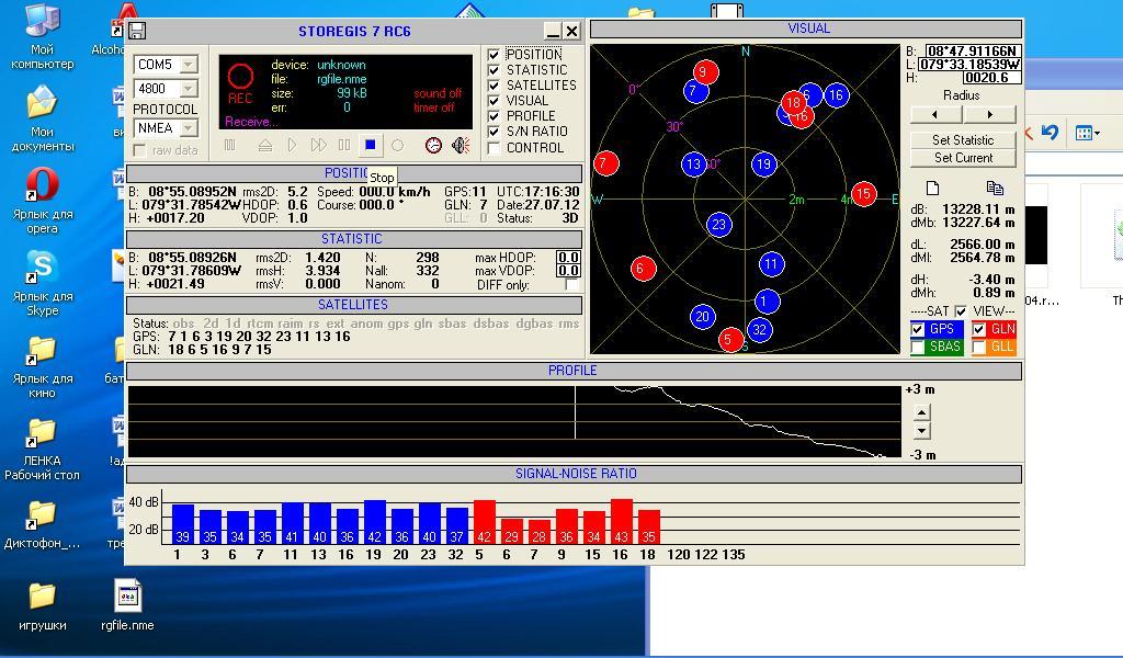 A Week with GLONASS / 27.07.2012