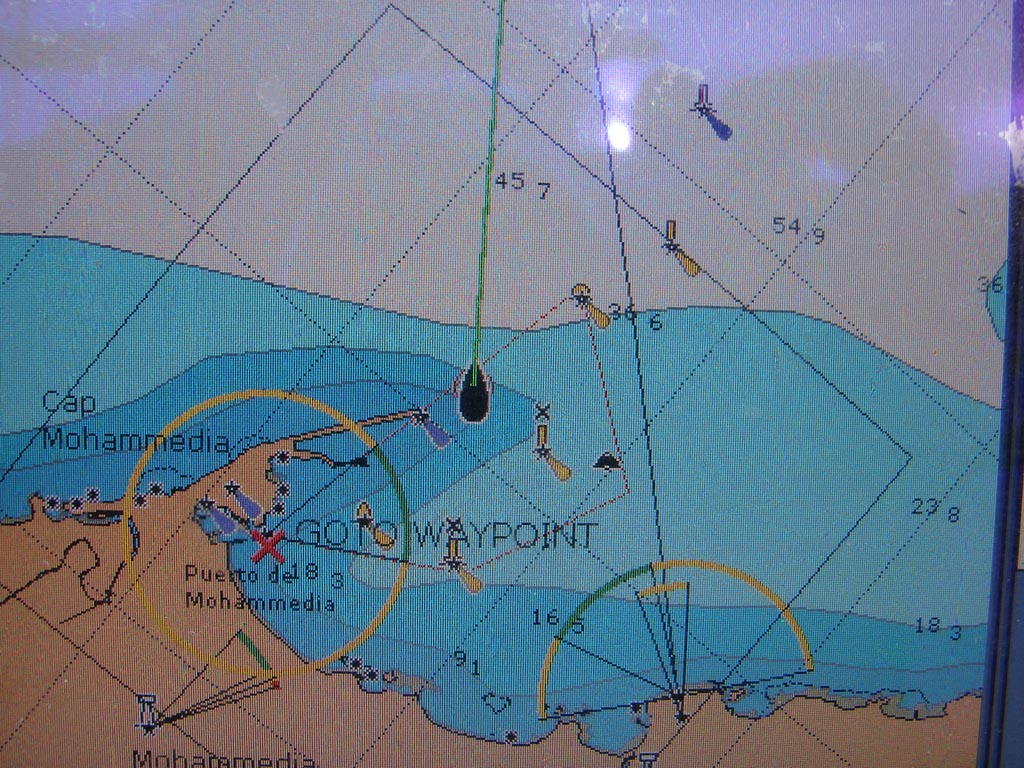GLONASS Navigator Leads us to the Coast of Morocco in the Vicinity of Casablanca