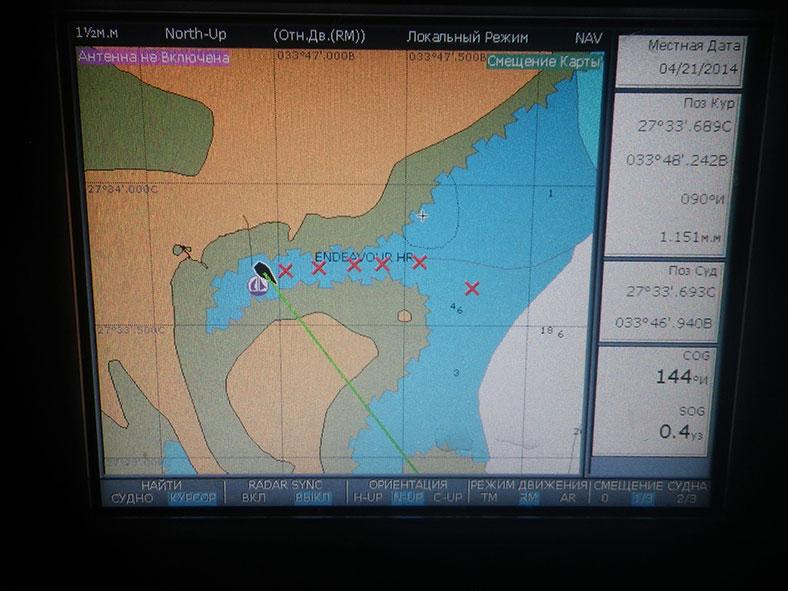 Ждем погоду и тестируем ГЛОНАСС в Красном море